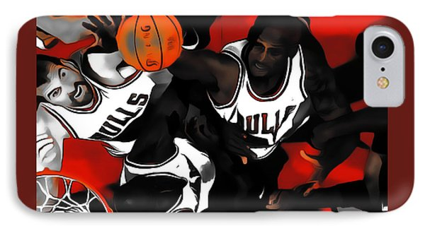 Battle For The Rebound IPhone Case by Brian Reaves