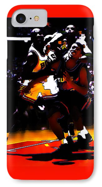 Battle In The Paint IPhone Case by Brian Reaves