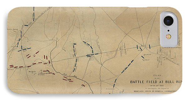 Battle Of Bull Run 1861 IPhone Case by Andrew Fare