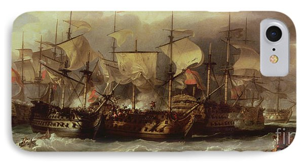 Battle Of Cape St Vincent Phone Case by Sir William Allan