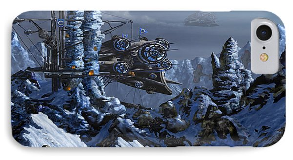 IPhone Case featuring the digital art Battle Of Eagle's Peak by Curtiss Shaffer