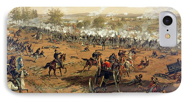 Battle Of Gettysburg IPhone Case by Thure de Thulstrup