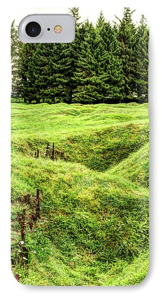 Battle Of The Somme Trench At Beaumont-hamel - Vintage Version IPhone Case by Weston Westmoreland
