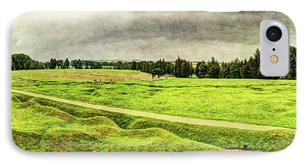 Battle Of The Somme Trench Frontline At Beaumont-hamel - Vintage Version IPhone Case by Weston Westmoreland