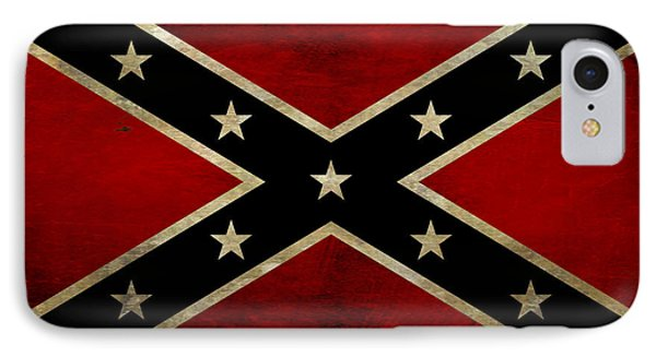 Battle Scarred Confederate Flag Phone Case by Randy Steele