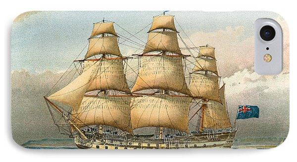 Battle Ship IPhone Case by William Frederick Mitchell