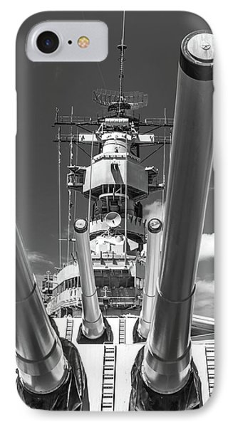 IPhone Case featuring the photograph Battleship Missouri by Colleen Coccia