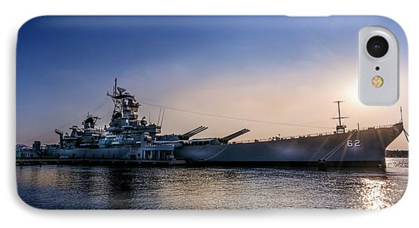IPhone Case featuring the photograph Battleship New Jersey by Marvin Spates
