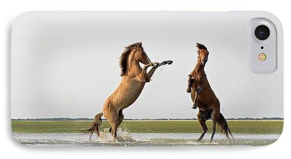 Battling Mustangs IPhone Case by Bob Decker