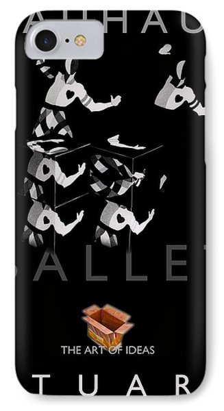 Bauhaus Ballet Black Phone Case by Charles Stuart
