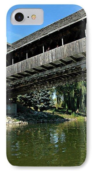IPhone Case featuring the photograph Bavarian Covered Bridge by LeeAnn McLaneGoetz McLaneGoetzStudioLLCcom