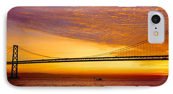 Bay Bridge At Sunrise, San Francisco IPhone Case by Panoramic Images