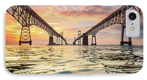 Bay Bridge Impression IPhone Case by Jennifer Casey