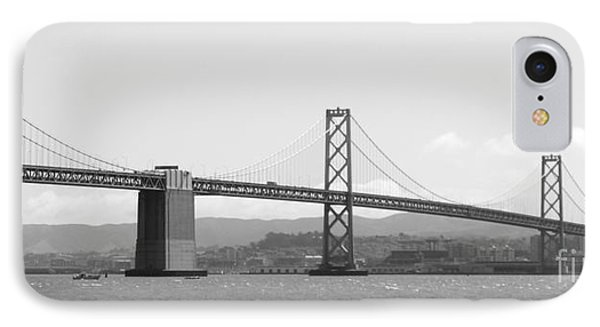 Bay Bridge In Black And White Phone Case by Carol Groenen