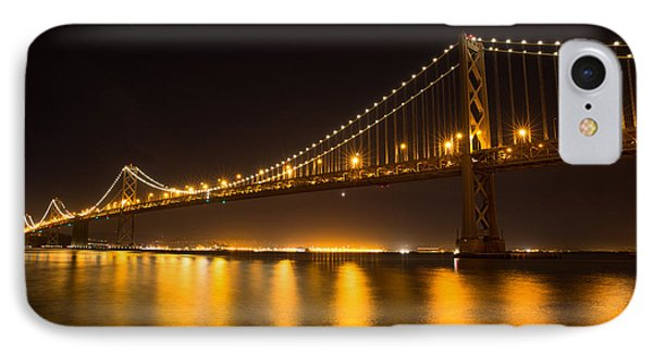 Bay Bridge Night View IPhone Case by Sungwook Choi