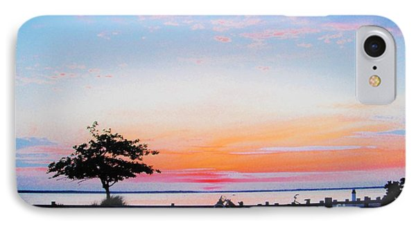 IPhone Case featuring the photograph Bay Sunset by Susan Carella