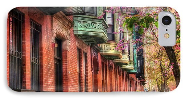 Bay Village Brownstones And Cherry Blossoms - Boston IPhone Case