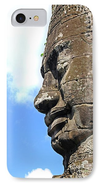 Bayon Face IPhone Case by Marion Galt