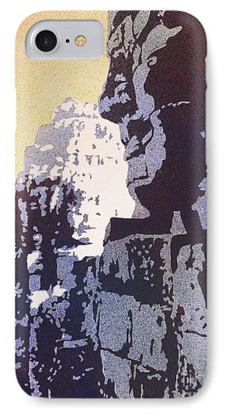 IPhone Case featuring the painting Bayon Temple- Angkor Wat, Cambodia by Ryan Fox