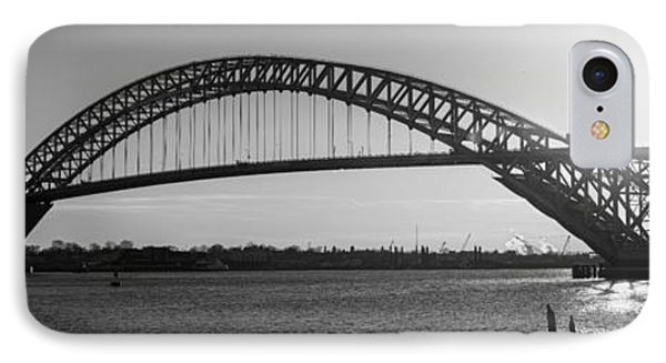 Bayonne Bridge Panorama Bw IPhone Case by Michael Ver Sprill