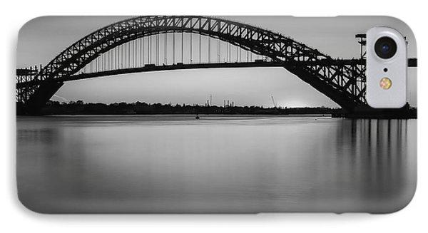 Bayonne Bridge Sundown Bw IPhone Case by Susan Candelario