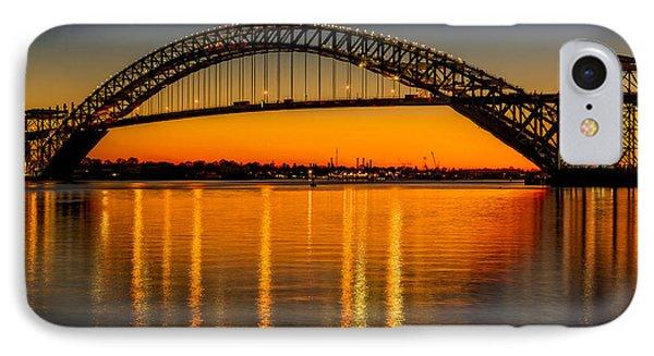 Bayonne Bridge Sunset IPhone Case by Susan Candelario