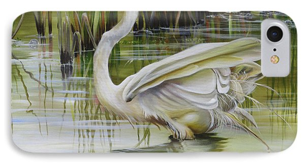 Bayou Caddy Great Egret IPhone Case