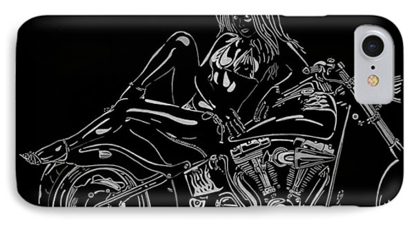 IPhone Case featuring the drawing Bb Five by Mayhem Mediums