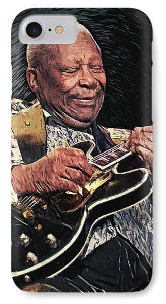 B.b. King II IPhone Case by Taylan Apukovska