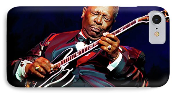 Bb King IPhone 7 Case by Paul Tagliamonte