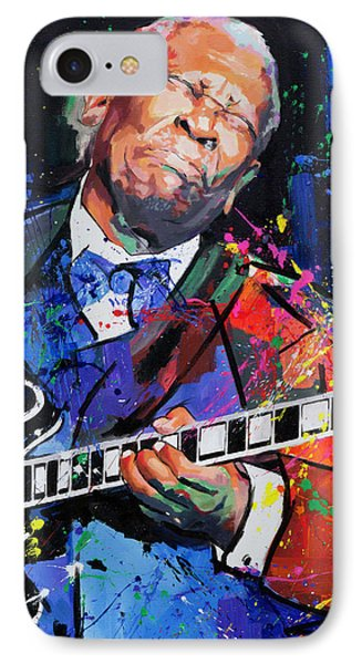 IPhone Case featuring the painting Bb King Portrait by Richard Day