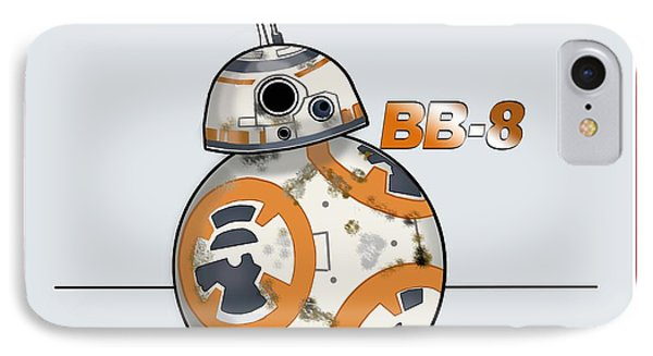 IPhone Case featuring the drawing bb8 by Chris DelVecchio