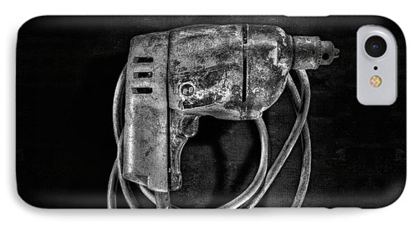 Bd Drill Motor Bw IPhone Case by YoPedro