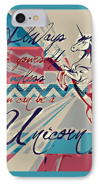 Be A Unicorn 1 IPhone Case by Brandi Fitzgerald