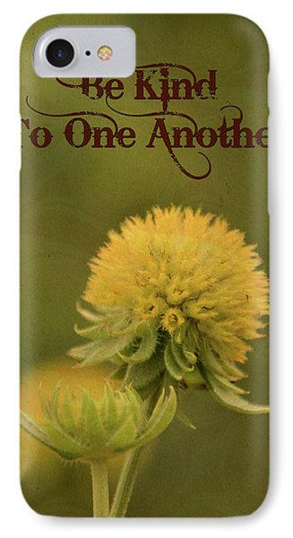 IPhone Case featuring the mixed media Be Kind To One Another by Trish Tritz