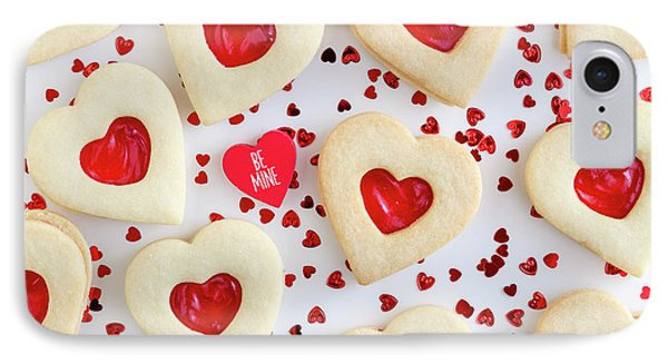 IPhone Case featuring the photograph Be Mine Heart Cookies by Teri Virbickis