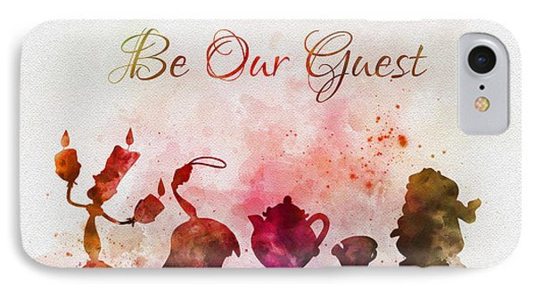 Be Our Guest IPhone Case by Rebecca Jenkins