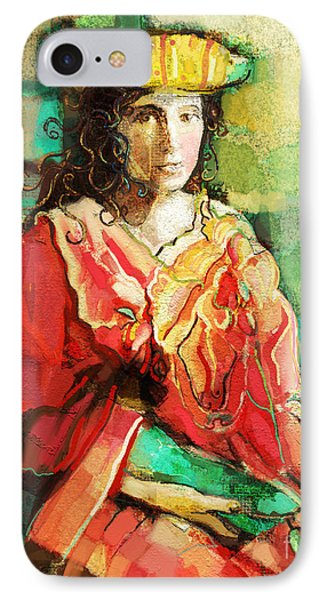 IPhone Case featuring the painting Be You by Carrie Joy Byrnes