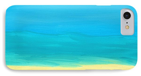 Beach Abstract IPhone Case by D Hackett