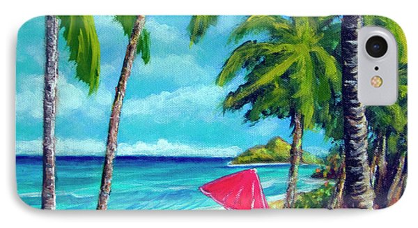 Beach And Mokulua Islands  #368 Phone Case by Donald k Hall