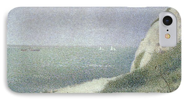 Beach At Bas Butin Phone Case by Georges Pierre Seurat