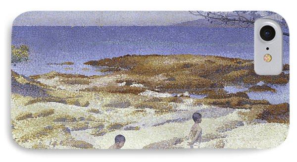 Beach At Cabasson IPhone Case by Henri-Edmond Cross