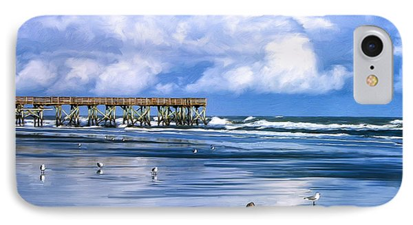 Beach At Isle Of Palms Phone Case by Dominic Piperata