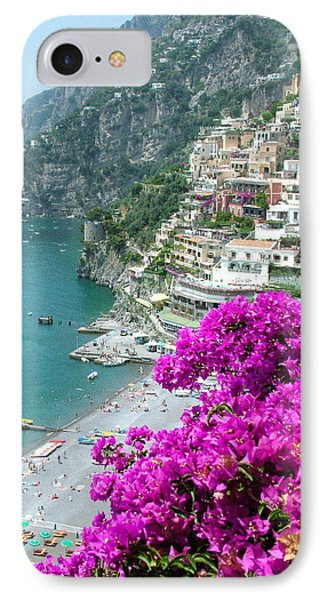 Beach At Positano IPhone Case by Donna Corless