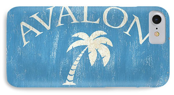 Beach Badge Avalon IPhone Case by Debbie DeWitt