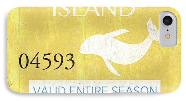 Dolphin iPhone 7 Case - Beach Badge Long Beach Island 2 by Debbie DeWitt