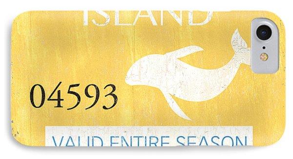 Dolphin iPhone 7 Case - Beach Badge Long Beach Island by Debbie DeWitt