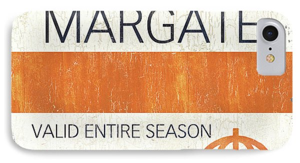 Beach Badge Margate IPhone Case by Debbie DeWitt