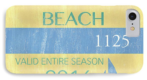 Beach Badge Normandy Beach 2 IPhone Case by Debbie DeWitt