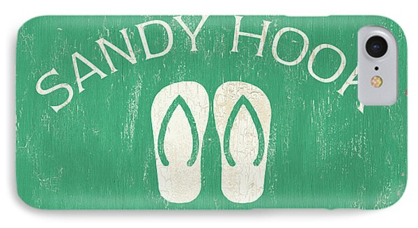 Beach Badge Sandy Hook IPhone Case by Debbie DeWitt